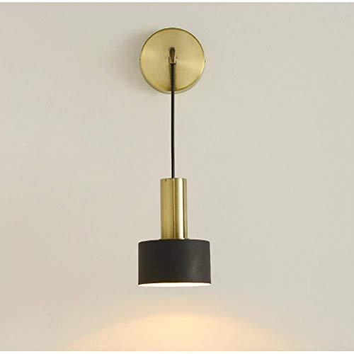 YUYANDE Clásico Suspensión Lámpara De Pared,E27 Plug-in Creativo Aplique De Pared Metal Sombra Base Decoración Iluminación De Pared para Dormitorio Cabecera (Color : B)