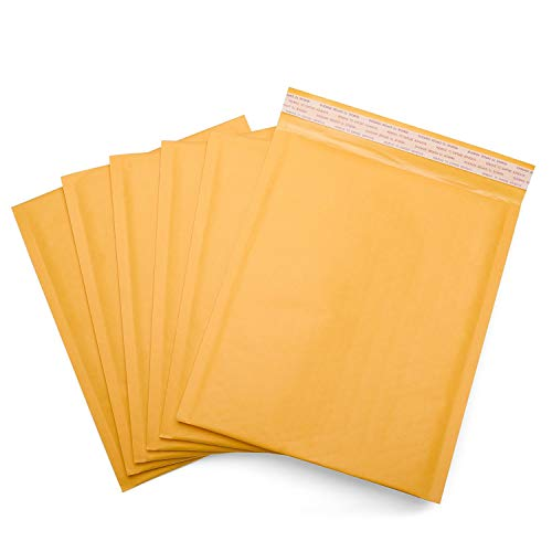 6X10 Kraft Bubble Padded Envelope Shipping Mailers, Size #0 6x10 Inches Kraft Bubble Mailers Padded Envelopes (500)