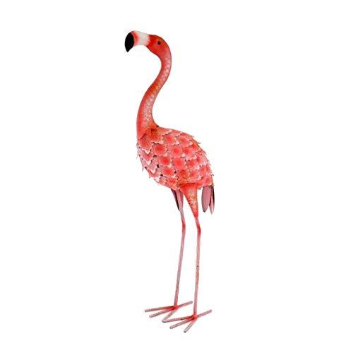 LiPengTaoShop Garden Sculpture Garden Decor Garden Statue Outdoor Statues 24 Inch Tall Iron Painted Flamingo Sculpture Lawn Ornaments (Color : Red, Size : 20.5 * 14 * 61cm)