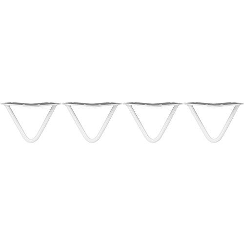 Hartleys 4er Set Haarnadel-Tischbeine mit Doppelstab, Höhen und Stärken