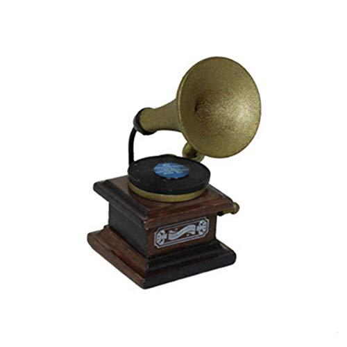 Yiifunglong Casa de muñecas Mini Gramófono Retro Modelo Juguete Niños Casa de Muñecas Decoración Miniatura Accesorios