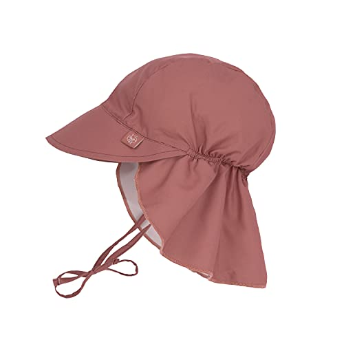LÄSSIG - UV Kappe mit Nackenschutz für Babys - Rosewood