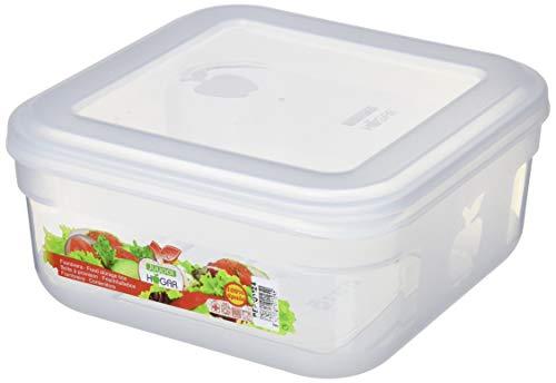 Juypal hermétique récipient Boîte carrée, Blanc, 2.5 litre