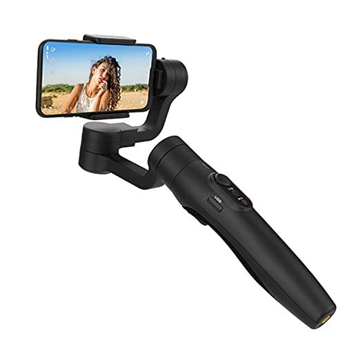Estabilizador expandible de 18 cm, 3 ejes, teléfono inteligente de mano universal selfie stick remoto para iPhone 12/Pro/Max y teléfonos Android
