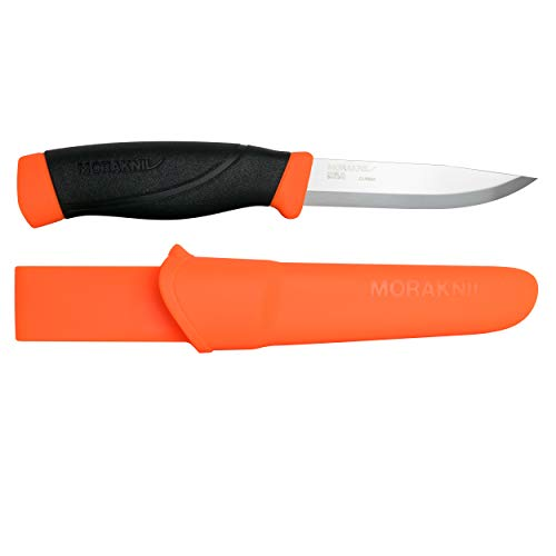 Mora FT01603 Gürtelmesser Heavyduty Outdoormesser-Klingenlänge: 10.16 cm-Companion Heavy Duty Orange, steel, mehrfarbig