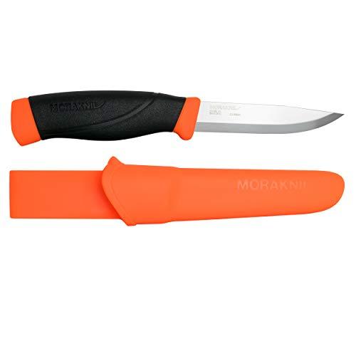Morakniv Companion Heavy Duty Knife with Sandvik Carbon Steel Blade, 0.125/4.1-Inch, Orange