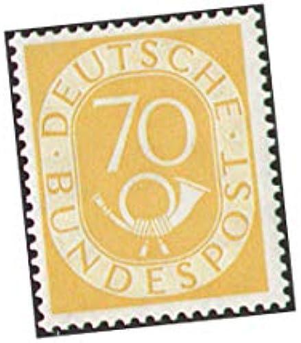 Goldhahn BRD Nr. 136 ungestempelt 70 PFG. Posthorn Briefmarken für Sammler