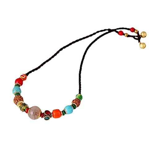 Collar bohemio bohemio tribal étnico declaración bohemia trenza collar con cuentas vintage regalo de joyería para mujeres
