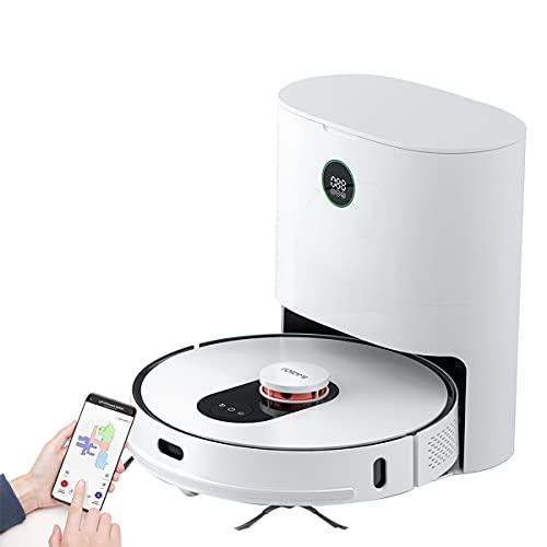 ROIDMI Eve Plus Robot Aspirador con estación de succión automática 2700Pa 210 Minutos de Tiempo de Funcionamiento Navegación láser Función de Limpieza Sistema de Limpieza de 3 etapas Control de Alexa