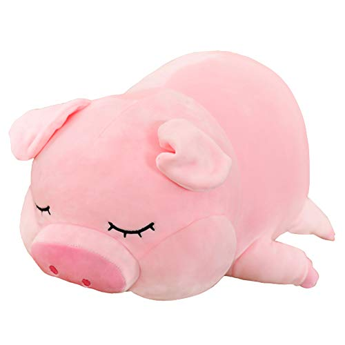 Soft Pig Stuffed Animal, Fat Pig Plush Hugging Pillow Piggy Plush Doll Toy Gifts for Kids Birthday, Valentine, Christmas, 18 in