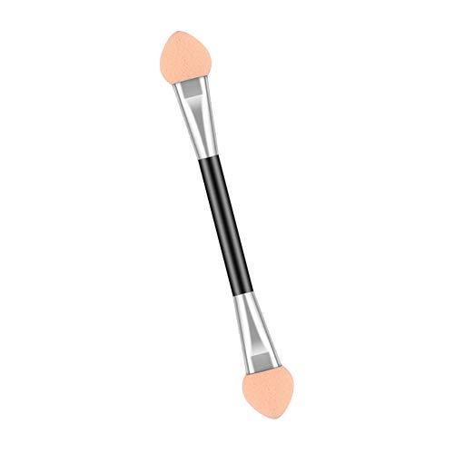 YUEKUN Lot de 50 pinceaux jetables double face pour fard à paupières - Applicateur de fard à paupières double extrémité en mousse - Outil de maquillage ovale