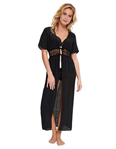 LingaDore 5122-02 Women's Black Kimono Beach Dress 40