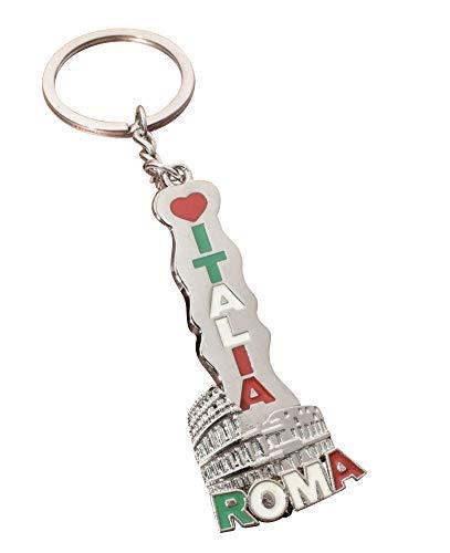 Unbekannt Générique Schlüsselanhänger, Taschenschmuck, Italien, Rom, Schriftzug Roma Italia