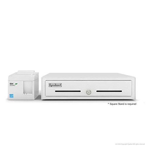 """Star Micronics TSP143III USB Receipt Printer and Epsilont 16"""" by 16"""" Cash Drawer 5 Bill 8 Coin Compatible with Square"""
