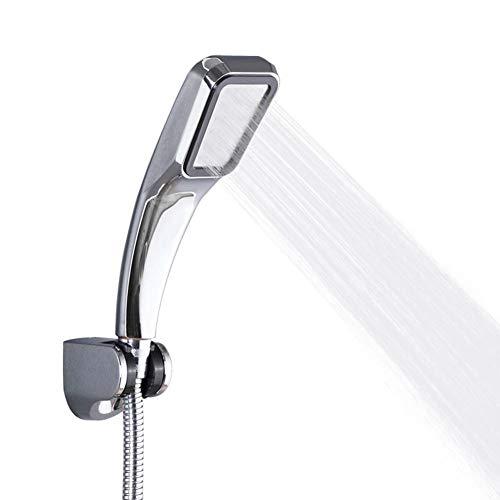XIGG douchekop, extra grote universele handheld douchekop, 1-delig gieten, hoge druk waterbesparing, voor droge huid en haar (zilver)