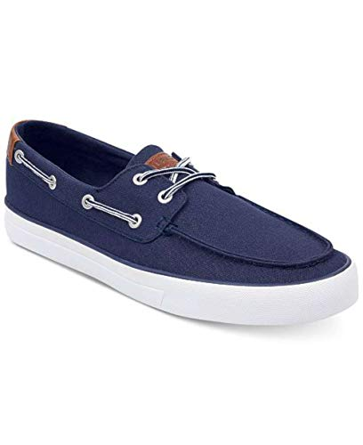 Tommy Hilfiger Mens Petes Fabric Closed Toe Slip On Shoes, Dark Blue, Size 7.0