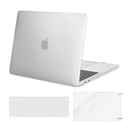 MOSISO Custodia Compatibile con MacBook PRO 13 A2338 M1 A2289 A2251 A2159 A1989 A1706 A1708 2020-2016, Plastica Custodia Rigida & Tastiera Cover & Proteggi Schermo, Brina