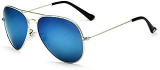 نظارة شمسية فيثديا بعدسات بولورايزد سماويه عاكسه بإطار فضي