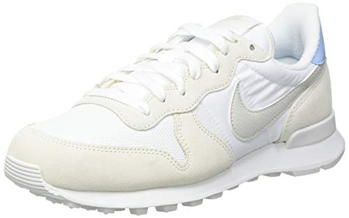 Nike Wmns Internationalist, Zapatillas para Correr Mujer, White Lt Bone Pale Ivory Summit White Baroque Brown Psychic Blue, 41 EU
