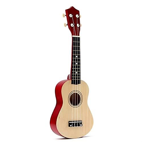 YSTSPYH Ukulele 21 Zoll Soprano Ukulele 4 Saiten Gitarre Uke + String + Pickel für Anfänger Kind Geschenk (Color : Natural, Size : 21 inches)