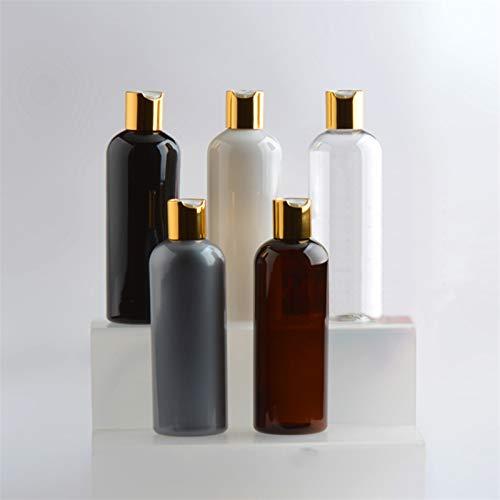 YSJJNDH Envase de Botella 24pcs 300ml Blanco/Negro Disco de Oro vacío Top Cosmetic Pet Loción Botellas Shampoo Gel Botella de plástico Botella de jabón de Viaje de Viaje