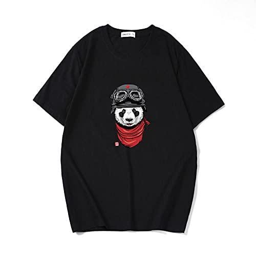 4D Impreso Fantástica Boy's T-Shirt,Japanese Comics Dibujos Animados Cuello Redondo Camiseta de Manga Corta Media manga-T347 Gato Volador (Negro)_2XLARGE