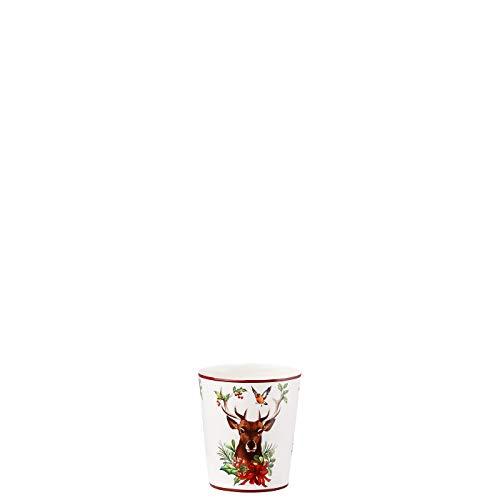 Hutschenreuther Tischlicht, Rot Grün, 7 cm