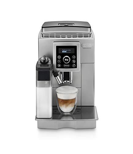 De\'longhi ECAM 23.460.SB - Cafetera Supe automática (15 bares de presión, sistema cappuccino automático, depósito de agua extraíble 1.8 L, panel LCD, limpieza automática) Plata/Negro