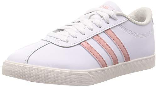 adidas Courtset, Women's Tennis Shoes, FTWR WHITE/PINK SPIRIT/CLOUD WHITE, 6 UK (39 1/3 EU)