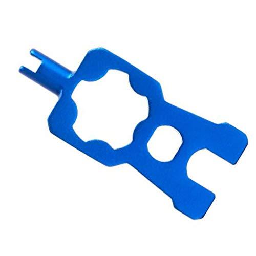 Vokmon Válvula de Aluminio de aleación de removedor de la Base Multifuncional de válvula del neumático de la Bici Herramienta para Quitar Bicicletas Herramienta de reparación