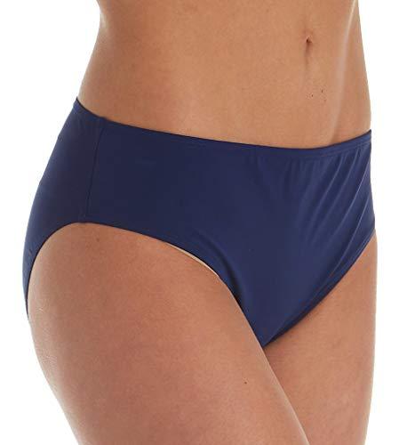 Christina Women's Semi High Waisted Bikini Bottom Swimsuit, Navy, 12