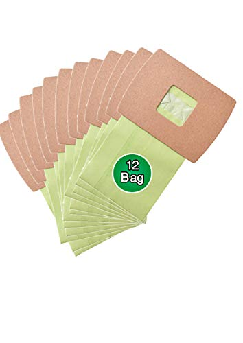 AQUA GREEN Replacement PKBB12DW Vacuum Bags Compatible with Oreck PKBB12DW Buster B Vacuum Bags (12 Pack)