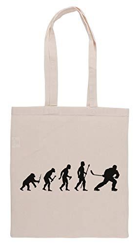 Luxogo EIS Eishockey Evolution Einkaufstasche Groceries Beige Shopping Bag
