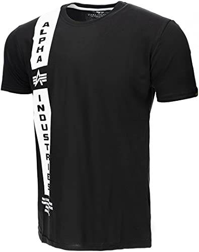 ALPHA INDUSTRIES Herren Defense T T-Shirt, Black, 3 XL