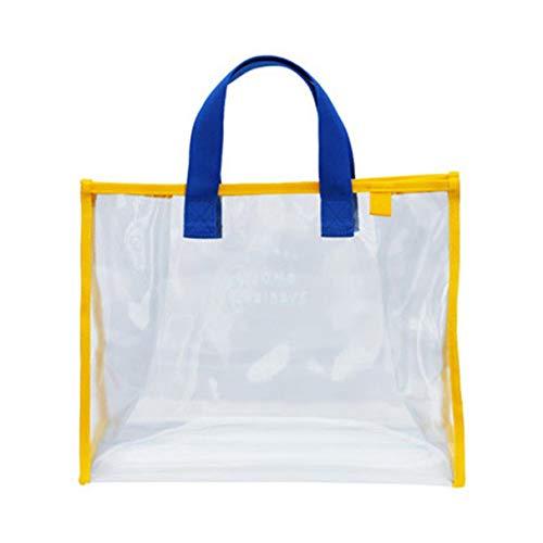 Morninganswer Bolsa de playa para mujer, de PVC, transparente, vertical, portátil, bolsa de viaje, bolsa de almacenamiento con hebilla para colgar