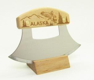 Inupiat Birke Alaska Besteck Ulu Messer Adler Flight Berge
