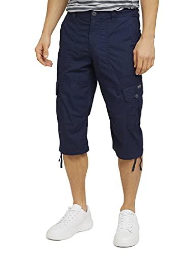 TOM TAILOR Herren 1026235 Max Overknee Cargo Bermuda Shorts, 10932-Sailor Blue, 34