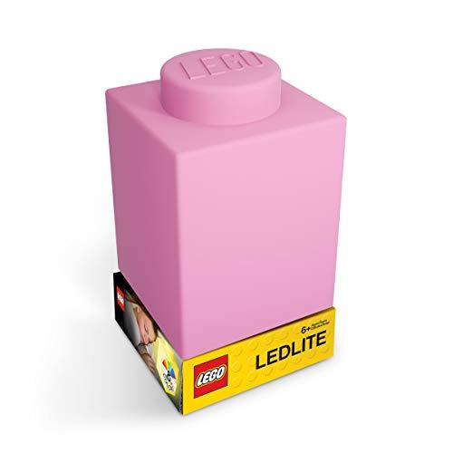 LEGO Classic 1x1 Brick Silicone NiteLite Lampe Nachttischlampe Nachtlicht 8x8x11 (Pink)
