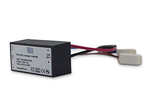 iq920 USB Unterputz Netzteil 4A zur Stromversorgung von Tablet Buchse UP CON1206