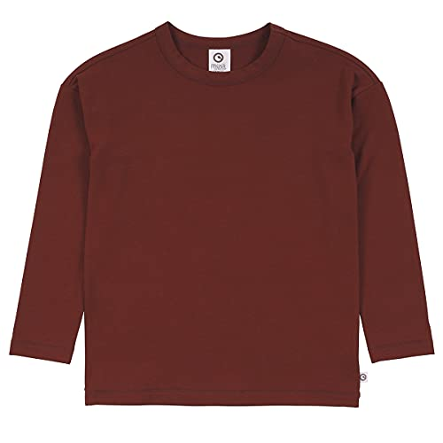 Müsli by Green Cotton Boys Cozy me Drop Shoulder T T-Shirt, Fudge, 104