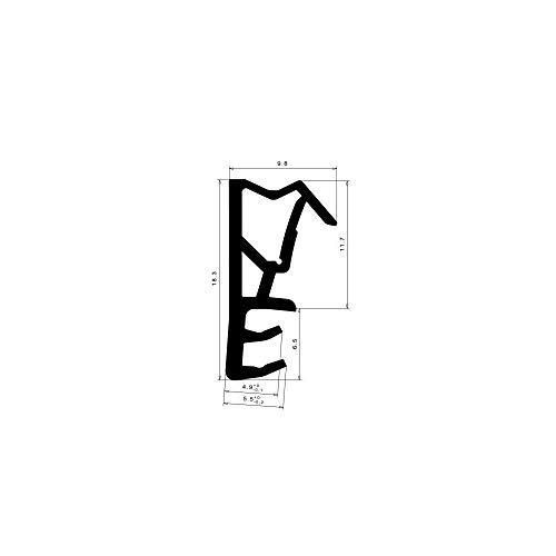 5 Meter Graf Dichtungen BL0111 Flügelfalzdichtung 12mm Falzhöhe, 4-5mm Nut, Kopfgröße 9,5mm weiß