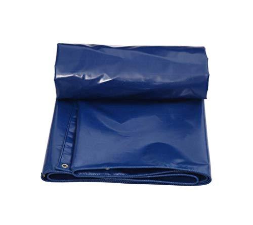 QTWW Lona Resistente Impermeable Impermeable Poncho Impermeable Grueso Tejido Azul para el vehículo de Picnic para el hogar al Aire Libre Acampar para el Techo del Coche del jardín Tienda de camu