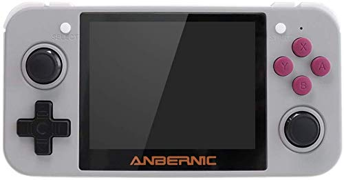 Annpee 2019 with RG350 Bag Opening Linux Tony System RG350 Handheld Game Console with 3.5inch IPS Screen , Retro Game Console with 32G TF Card (White)