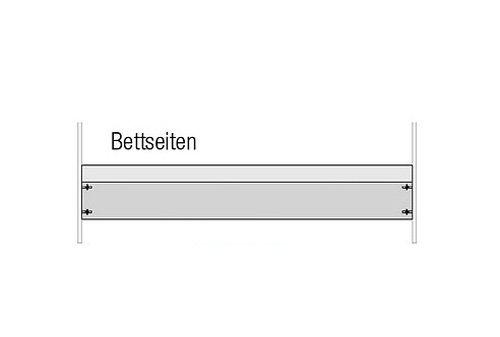 moebel-eins Odette Umbauseiten für Babybett Kiefer massiv/weiß ge