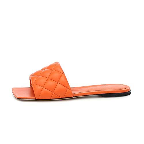 Sandalias Mujeres Planas Mules, MWOOOK-2308 Moda Zapatos Plano Verano Antideslizantes Fiesta Sandalias y...