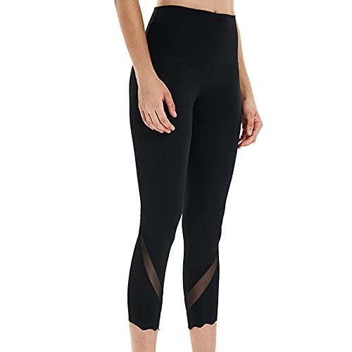 Pantalones de yoga para mujer con cintura alta Control de barriga Entrenamiento Correr Estiramiento Leggings alta Mujeres Slim Fit Scrunch Levantamiento de glúteos Pantalones de yoga Tallas grandes