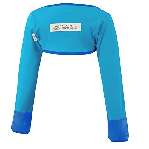 ScratchSleeves | Kratzhandschuhe mit Ärmeln für juckreizgeplagte Kleinkinder und Vorschulkinder | Blau | 3-4 Jahre