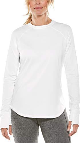Coolibar UPF 50+ Women's LumaLeo Long Sleeve T-Shirt - Sun Protective (2X- White)