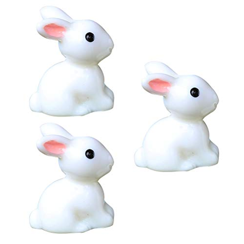 BESTOYARD Mini Micro Paysage Lapins Jardin De Résine Artisanat Pot Paysage Ornement 20pcs (Petites Oreilles)
