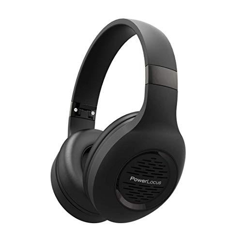 Auriculares Bluetooth Diadema, Auriculares Inalámbricos PowerLocus, Estéreo Hi-Fi con Graves Profundos, Cascos Bluetooth con Micrófono Incorporado, Cascos con Cable para Clases Online, Móvil, Tablet